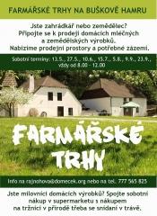Farmářské trhy na Buškově hamru