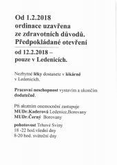 Informace MUDr. Josefa Kroulíka