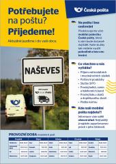 Mobilní pošta ve Strážkovicích !