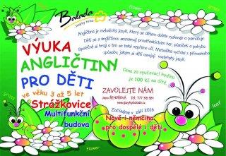 Nabídka výuky angličtiny pro děti - NOVÉ