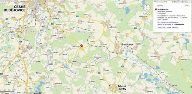 obrázek s mapou - polohou obce