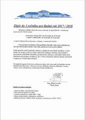 Zápis do 1. ročníku ZŠ Borovany pro školní rok 2017/2018
