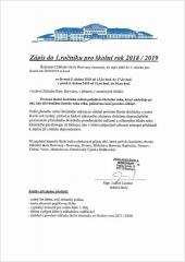 Zápis do 1. ročníku ZŠ Borovany pro školní rok 2018/2019