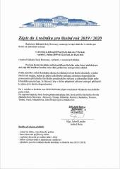 Zápis do 1. ročníku ZŠ Borovany pro školní rok 2019/2020